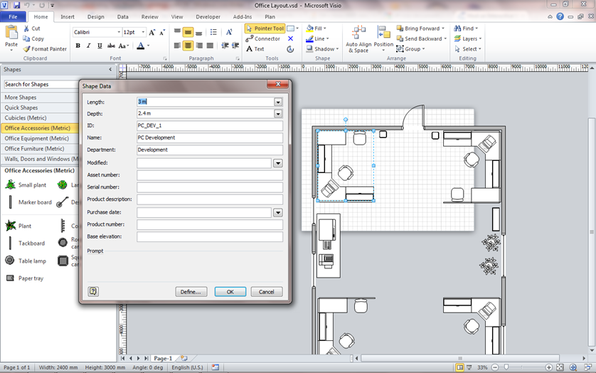 Reading and Writing Visio Shape Information with C#