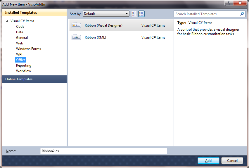 Developing Applications for Visio with Visual Studio (VSTO, Windows